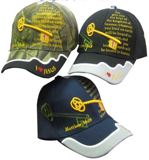 KEYS TO THE KINGDOM Christian Hat Baseball Cap Show Your Faith MATTHEW 16:19