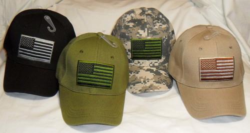 USA American Flag Patch U.S.A. United States America Tactical Baseball Hat Cap