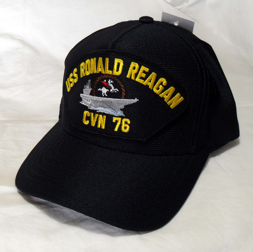 USS RONALD REAGAN CVN-76 NAVY SHIP HAT OFFICIALLY LICENSED BASEBALL CAP Made in USA