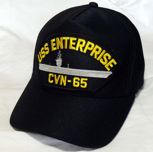 USS ENTERPRISE CVN-65 US NAVY SHIP HAT OFFICIALLY LICENSED BALL CAP Made in USA