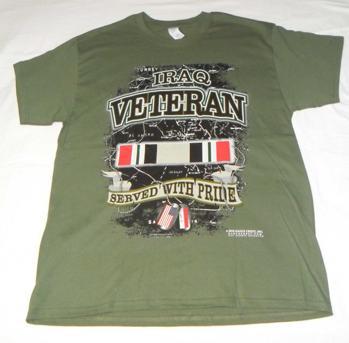 IRAQ VETERAN T-SHIRT SERVED WITH PRIDE NEW ( You are Appreciated )