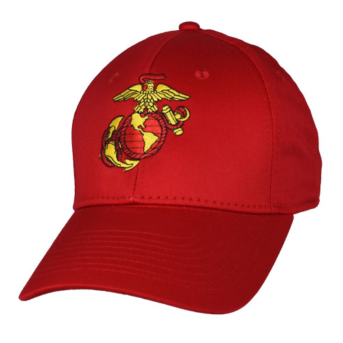 US MARINE CORPS USA MADE Officially Licensed RED EGA Military Hat Baseball Cap