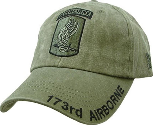 US ARMY 173RD AIRBORNE - U.S. Army Officially Licensed OD Green Military Baseball Cap Hat