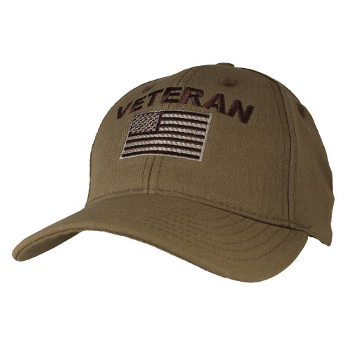 Made In The USA Veteran with Flag CYB Baseball Cap Hat