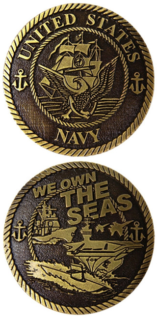 US NAVY We Own The Seas Challenge Coin Officially Licensed