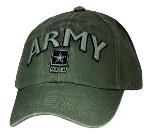 U.S. Army with Army Star OD Green Officially Licensed Baseball Cap Hat