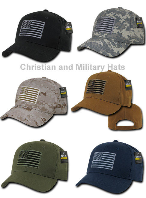 USA US AMERICAN FLAG TACTICAL OPERATOR COTTON BASEBALL CAP HAT CAPS HATS