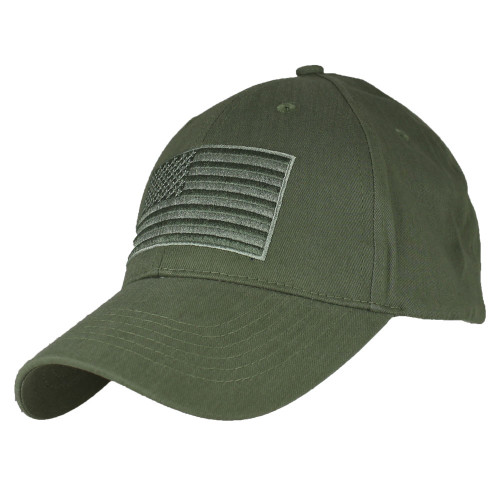 Olive US American Flag Patch United States America Polo Baseball Hat Cap 654d11f0967