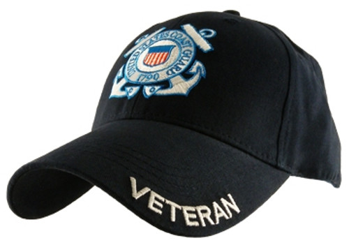 U.S. Coast Guard Veteran Embroidered Seal Officially Licensed Military Hat Ball Cap