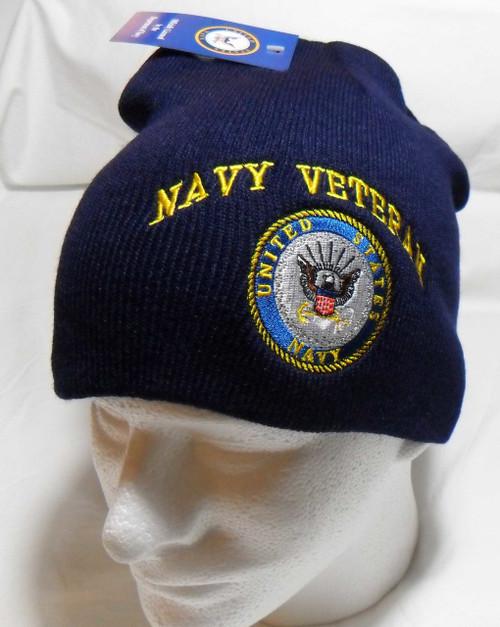 U.S. Navy Veteran Watch Cap Beanie Winter Ski Hat Toboggan Officially Licensed