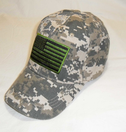 Digital USA American Flag Tactical Baseball Hat Cap