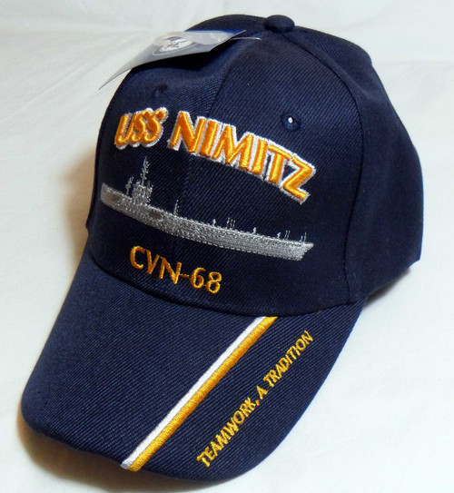 USS NIMITZ CV-68 US NAVY SHIP HAT OFFICIALLY LICENSED BASEBALL CAP