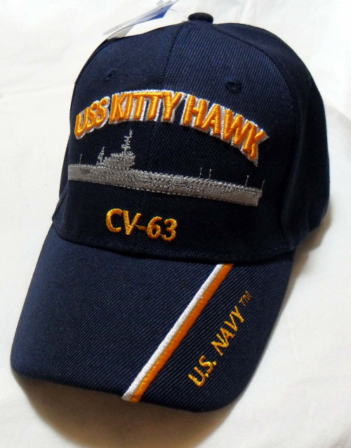 USS KITTY HAWK CV-63 US NAVY SHIP HAT OFFICIALLY LICENSED BASEBALL CAP