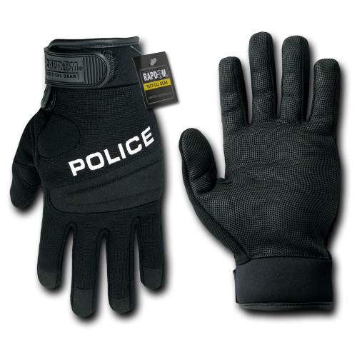 Police Digital Leather Tactical Duty Glove Gloves
