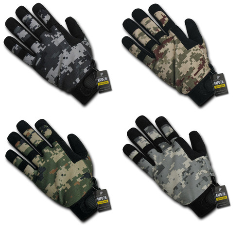 Digital Camo Pattern Digital Camo Tactical Glove Gloves  Sizes S to 2XL