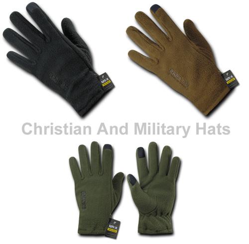 Polar Fleece Gloves  with Military Specs Sizes S to 2XL