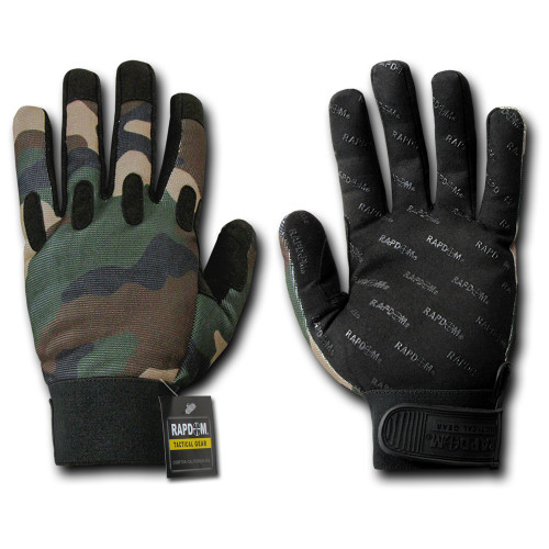 Camo Woodland Tactical Duty Glove Gloves