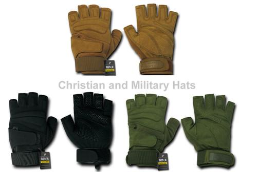 Lightweight Half Finger Gloves Military Specs Sizes S to 2XL