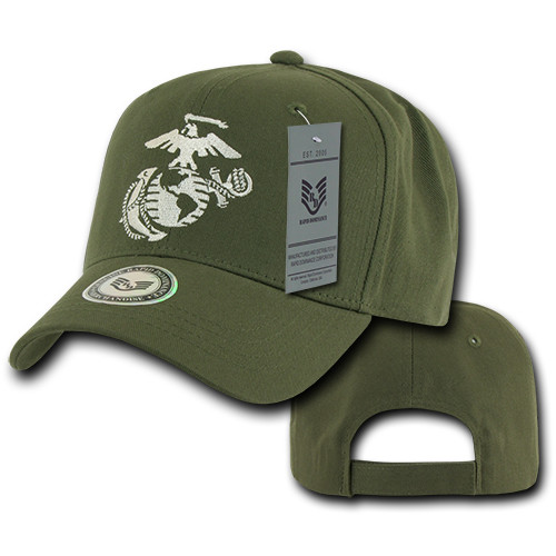 United States US Marines Corps USMC OFFICIALLY LICENSED OLIVE Baseball Cap Hat