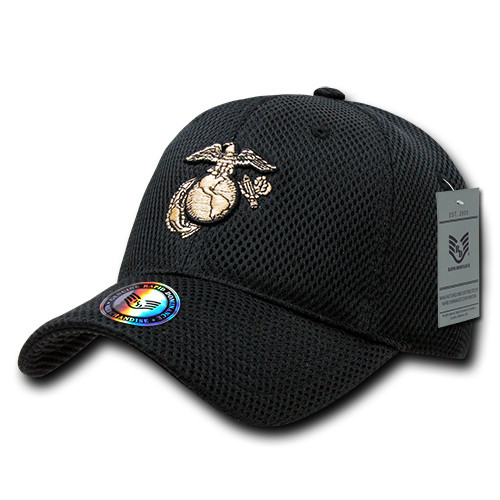 United States US Marines USMC Black Mesh OFFICIALLY LICENSED Baseball Cap Hat