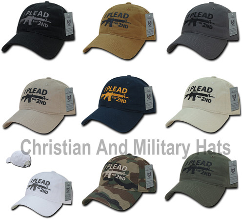 2nd Amendment I Plead The 2nd Polo Tonal Relaxed Fit Baseball Hat Cap