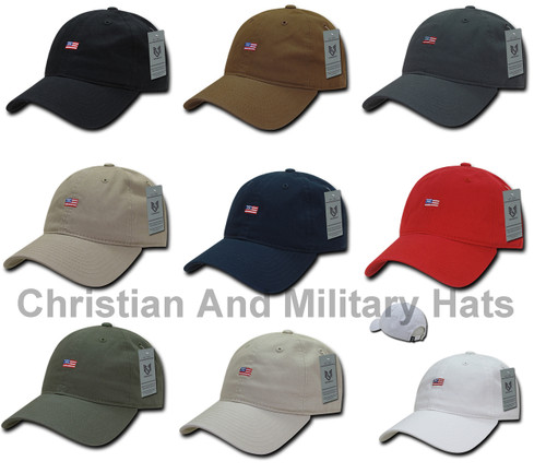Small US American Flag Patch United States America Baseball Hat Cap