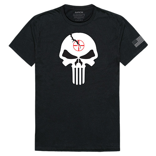 237cd402e Black PUNISHER Military Tee TACTICAL GRAPHIC TEE