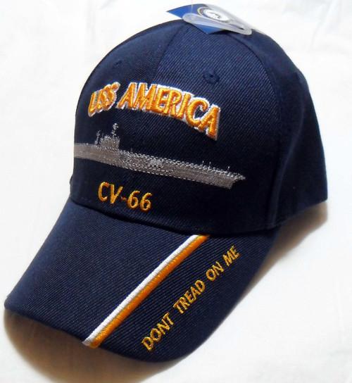 USS AMERICA CV-66 US NAVY SHIP HAT OFFICIALLY LICENSED BASEBALL CAP