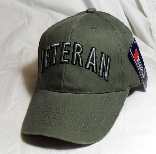 ccc6c418 ... US Military Veteran - OD Green Baseball Cap Hat (Thank you for your  Service) ...