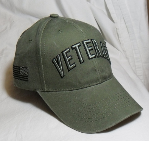 US Military Veteran - OD Green Baseball Cap Hat (Thank you for your Service)
