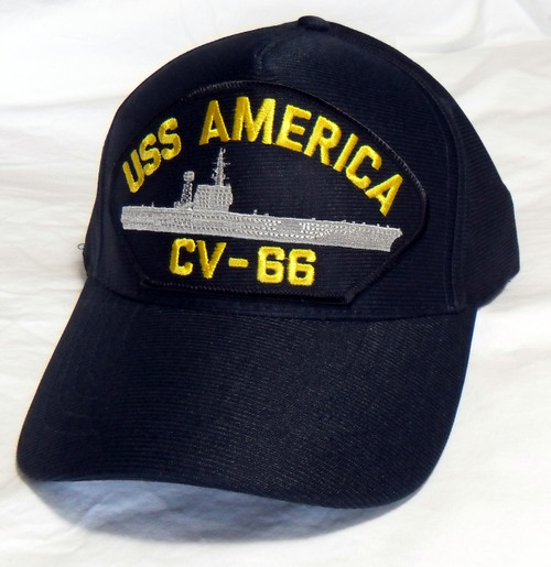 1152aa55233d2 USS AMERICA CV-66 Made in USA US NAVY SHIP HAT OFFICIALLY LICENSED Baseball  Cap