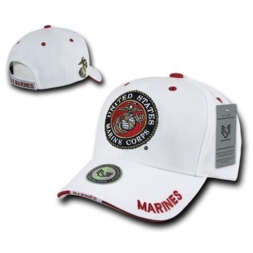 White United States US Marines Corps USMC OFFICIALLY LICENSED Baseball Cap Hat