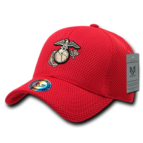 United States US Marines USMC Red Mesh OFFICIALLY LICENSED Baseball Cap Hat