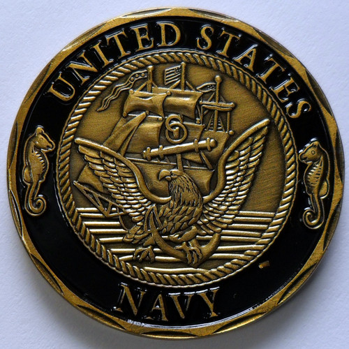 US Navy Marine Shellback Navy Challenge Coin US Crossing the Equator In Airtite