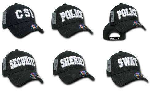 Law Enforcement CSI, POLICE, SECUITY, SHERIFF, or SWAT Hat Baseball Cap