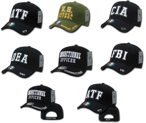Federal Law Enforcement ATF, BP, COROFC, CIA, DEA, or FBI Hat Baseball Cap