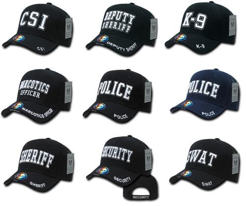 Law Enforcement CSI, DEP, K-9, NAR, POLICE, SHERIFF, SEC, or SWAT  Hat Baseball Cap