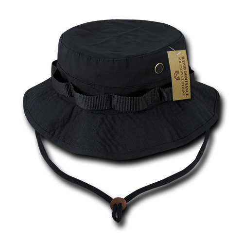 Black Military Spec Ripstop Boonie Hunting Fishing Outdoor Hiking Bucket  Jungle Hat a53829a694d5