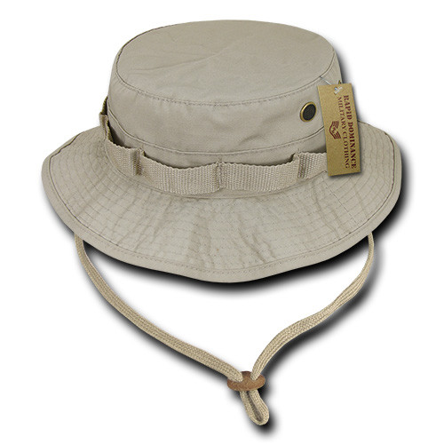 Khaki Military Spec Ripstop Boonie Hunting Fishing Outdoor Hiking Bucket  Jungle Hat 1ca983fdf19a