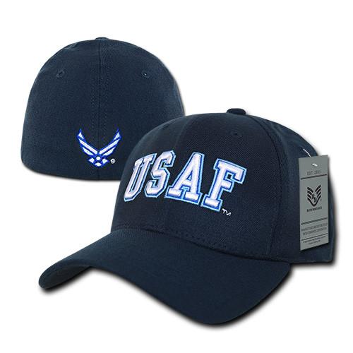 USAF UNited States Air Force Military Operator Flex Fit Baseball Hat Cap