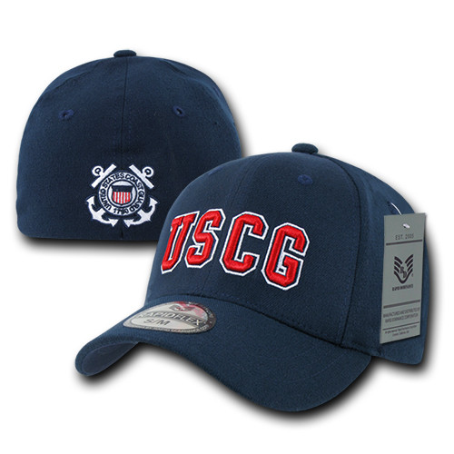 USCG United States Coast Guard Military Operator Flex Fit Baseball Hat Cap
