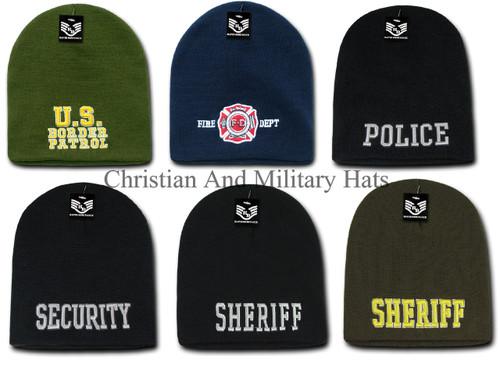 Public Service Law Enforcement Beanie Toboggan Ski Knit Cap
