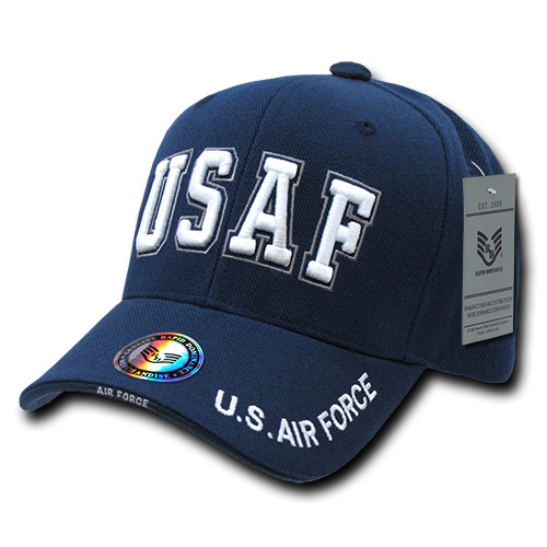 USAF US Air Force Military Hat Bold Letter OFFICIALLY LICENSED  Baseball Cap Hat