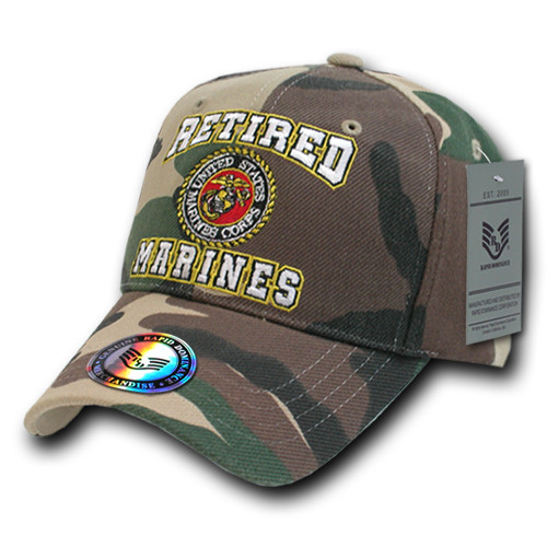 78df6e44a52 Camo Retired United States US Marines Corps USMC OFFICIALLY LICENSED Baseball  Cap Hat