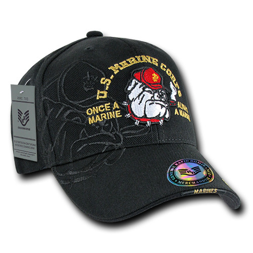 Bull Dog USMC United States MARINES Military Shadow Cap OFFICIALLY LICENSED Baseball Hat