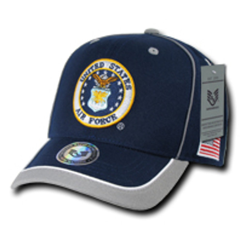 Piped United States Air Force USAF MILITARY Hat OFFICIALLY LICENSED Baseball Cap Hat