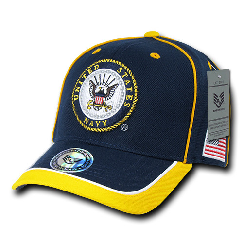Piped United States NAVY US Navy MILITARY Hat OFFICIALLY LICENSED Baseball Cap Hat