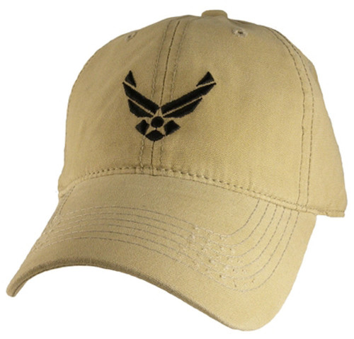 U.S.A.F. US AIR FORCE Relaxed Fit Khaki OFFICIALLY LICENSED Military Hat baseball cap