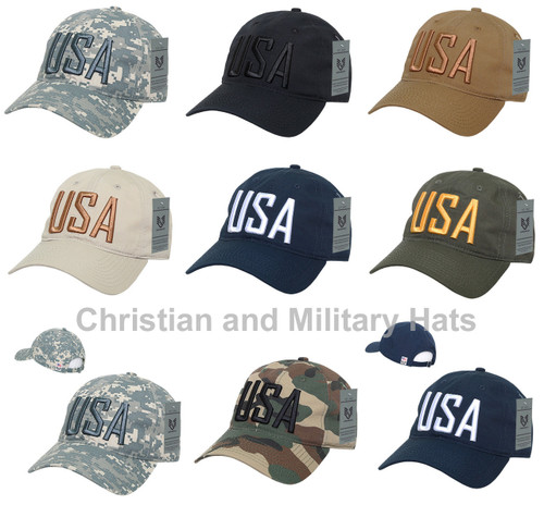 777952c421e22 Relaxed Fit Ripstop Cap United States USA Text Baseball Cap Hats