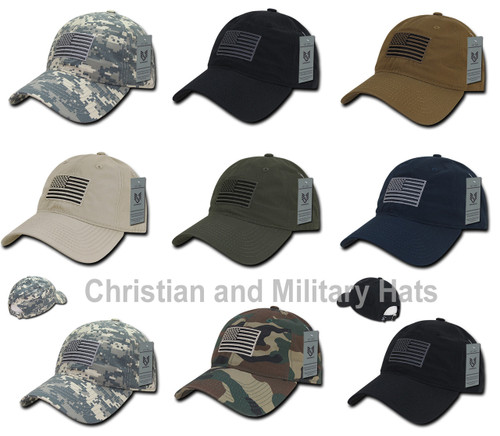 Relaxed Fit Ripstop Cap United States USA FLAG Baseball Cap Hats